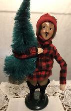 1991 Byers Choice Caroler Boy Child With Tree