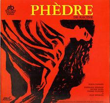 """MARIA CASARES, RACINE """"PHEDRE"""" LP SELECTIONS SONORES BORDAS 106"""