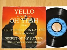 """7"""" YELLO in the Movies OH YEAH Ferris Bueller's Day Off / Secret Of My Success"""