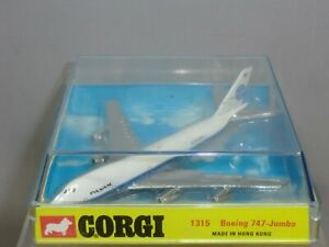 VINTAGE CORGI TOYS MODEL No.1315 BOEING 747  PAN AM JET PASSENGER  AIRCRAFT MIB