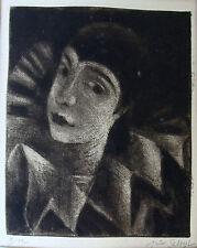 """Jules Schyl 1893-1977, """"Pierrette"""", Radierung 4/12, um 1950"""