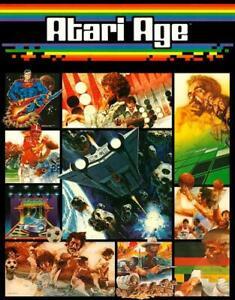 Atari Age POSTER 1982 2600 Atari Club Video Game Magazine Rare Large