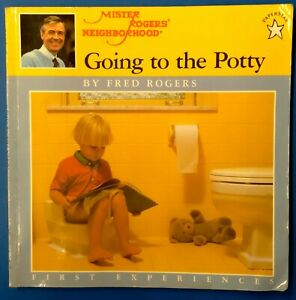 MISTER ROGERS RARE 1986 GOING TO THE POTTY BOOK POTTY TRAINING CHILD CARE