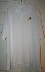 NFL Washington Redskins White Short Sleeve Polo Golf Shirt Sz XXL by Antigua