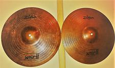 """Zildjian Amir Ii Hi Hat Set of 2. 14"""" Drum Cymbals.Top, Bottom. Made in Usa"""