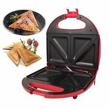 New Red 2 Non Stick Slice Toast Makers 700w Easy Clean Sandwich Toaster