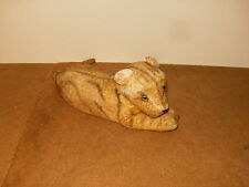 Ancienne peluche TIGRE félin 40cm - vintage stuffed TIGER feline 15.7 inches