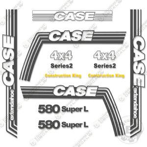 Case 580 Super L Decal Kit Series 2 Extendahoe Backhoe - 7 YEAR 3M VINYL
