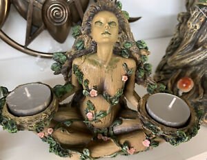 Balance Of Nature Tea Light Holder Nemesis Now Mother Earth U.K. SELLER