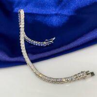 AAA Quality 925 Sterling Silver Lady Jewelry White Zircon Tennis Bracelet
