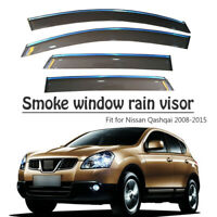 4Pcs Window Vent Visors Rain Guard Sun Shield Deflectors Fit For  Nissan Qashqai