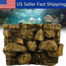 New listing 60x45cm 3D Pu Rock Stone Aquarium Background Backdrop Reptile Fish Tank Decor