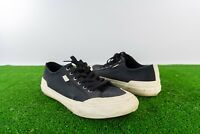Huf Classic Skate Shoes Lo Canvas Black off white bottoms Mens 11 Skated Shoes