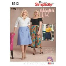 Simplicity 8612 Sz 18-34 EASY Wrap Skirt Ankle Knee Length Mini Side Tie Pattern