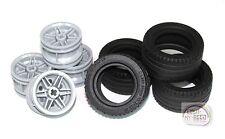 LEGO Technic - Tire x 4 w/ LBG Rims - New - (Truck, Car, Off-road)