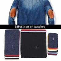 18Pcs/Set iron On Mending Patches Repair Kit for Cloth Jeans Hats Bags NICE