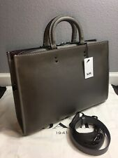 Coach 1941 Men Rogue Briefcase In Very Natural Grey In GloveTanned Leather 11647