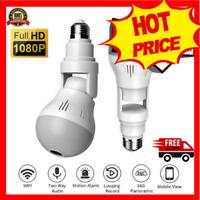 SPY Panoramic Hidden Wifi Camera Light Bulb HD 1080P Security IP Camera V380