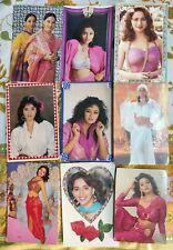 Lot 22 Rare Bollywood Actress Madhuri Dixit Postcard Postcards Post Card P9