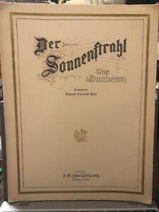 1904 Milwaukee Wisconsin Sheet Music 'the sunbeam' (German)