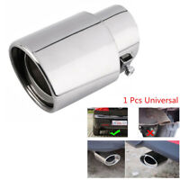 Car Stainless Steel Chrome Exhaust Tail Muffler Tip Pipe Round Silver Universal