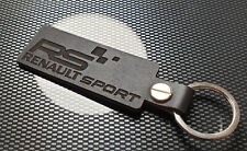 RS SPORT BLACK  Leather Keyring REN Megane Clio Twingo Cup N RS REN SPORT O