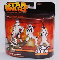 Star Wars Revenge Of The Sith Clone Troopers Build Your Army Hasbro 2005 NIB