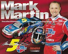 MARK MARTIN AUTOGRAPHED 2011 CARQUEST AUTO PARTS RACING NASCAR PHOTO POSTCARD