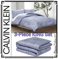 Calvin Klein Comforter King Set_Bamboo Flowers_3-Piece_1 Comforter & 2 Shams