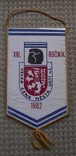 1982 Czechoslovakia Boxing Title Fight Usti nad Labem Glove Lion Pennant Flag