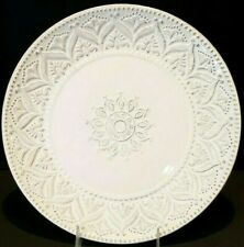 PIER 1 CHATEAU CLAIR EMBOSSED DINNER PLATE NWOB 11""