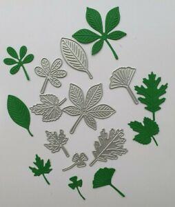 Craft Metal cutting die Scrapbooking Paper craft DIY Cards - Leaf Assortment x 8
