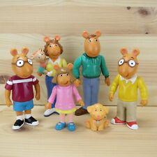 "Arthur - Marc Brown / Pbs Kids Vintage 1996 Hasbro 4"" Action Figures - Lot Of 6"