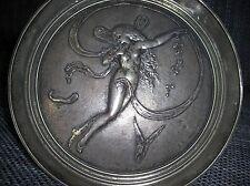 Jugendstil Figürliche Elfen Schale J. Richard 1874 Bronze und Silber