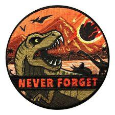 89084 Roaring Tyrannosaurus Rex T-Rex Dinosaur Dino Reptile Iron Sew On Patch