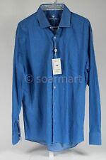 Bertigo Long Sleeve Blue Button Down Mens XL