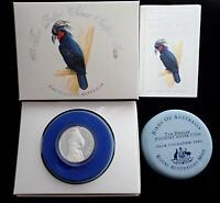 1993 BIRDS of AUSTRALIA PALM COCKATOO $10 SILVER PIEDFORT COIN MELB COIN FAIR