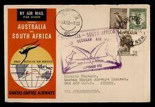 New ListingDr Who 1952 Australia First Flight Qantas Sydney To South Africa f34890