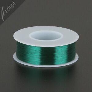 34 AWG Gauge Magnet Wire Green 1975' 155C Solderable Enameled Copper Wind