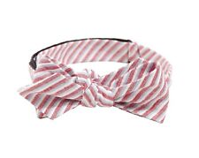 J Crew Factory - Men's - NWT - Chambray Striped Self-Tie Linen Bow Tie