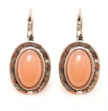 Damen Ohrringe✨Stein Lizas Orange Silber Retro Design Geschenk Frau Freundin❤️😍