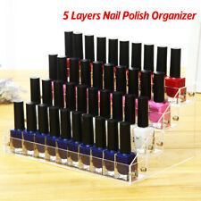 5 Tiers Nail Polish Display Stand Makeup Organizer Holder Rack Clear Acrylic CA