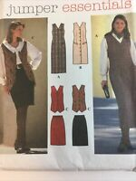 1995 Simplicity 9759 VTG Sewing Pattern Misses Petite Jumper Skirt Size 12 14 16