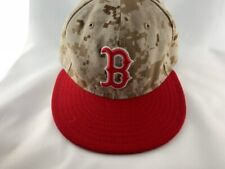 New Era Boston Red Sox Camouflage Baseball Hat Size 7 1/8