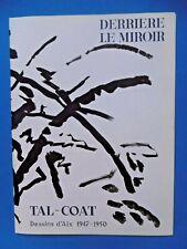 TAL COAT Derrière le Miroir 1960 n°120 DLM 5 Lithographies Aix Tirage original