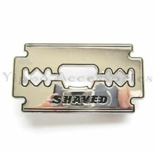 Shaved Razor Blade Bottle Opener Metal Fashion Belt Buckle