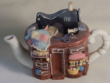 Minature Novelty Tea Pot, Regency Fine Arts, Sewing Machine