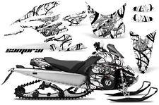 Yamaha FX Nytro 08-14 Graphics Kit CreatorX Snowmobile Sled Decals SAMURAI BW