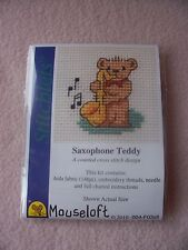 MOUSELOFT STITCHLETS CROSS STITCH KIT ~ SAXOPHONE TEDDY ~ NEW