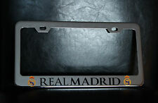 """REAL MADRID"" License Plate Frame, Custom Made of Chrome Plated Metal"